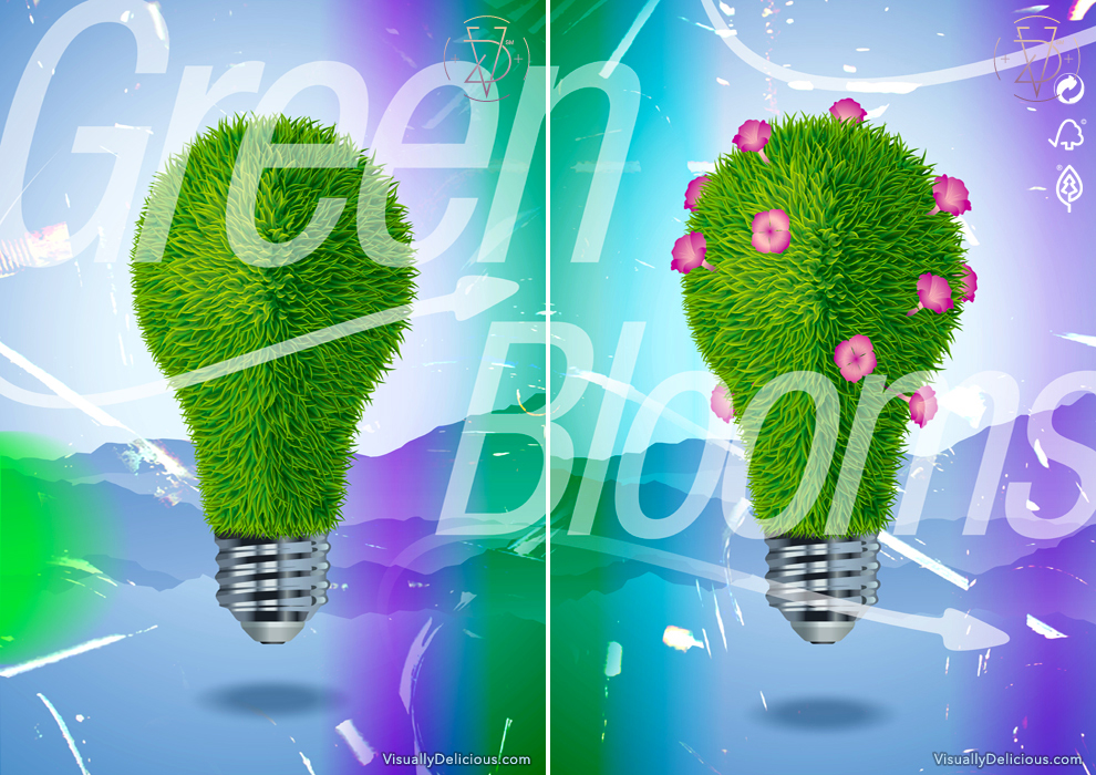 Green Blooms-Energy Conservation poster series.