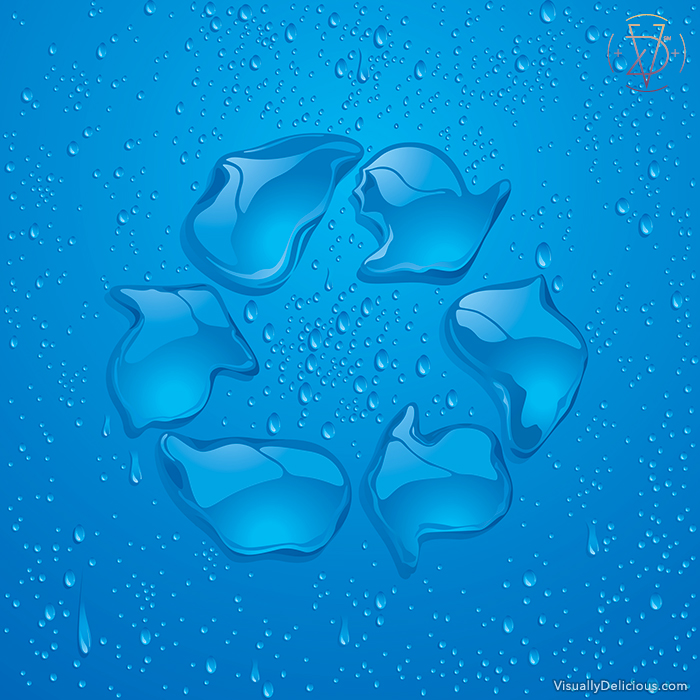 Water Conservation – Recycle Symbol