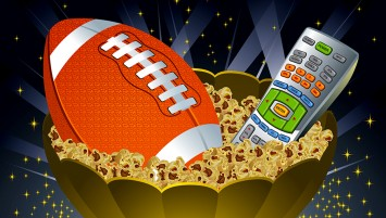 Illustration used for Super Bowl XLVII invitation card.