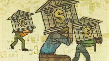 Illustration used for banking conference.