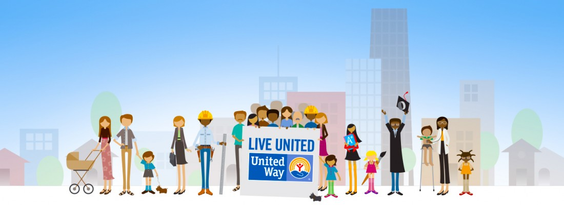 United Way-LIVE UNITED Campaign Characters by Visually Delicious