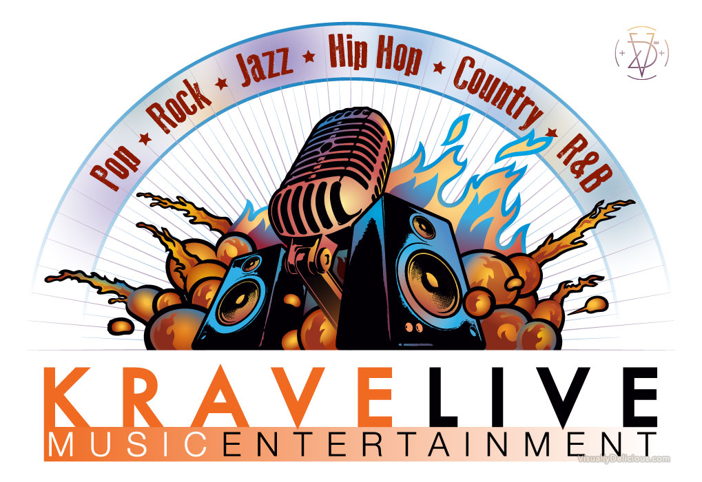 Promo Illustration for KraveLive Music Entertainment